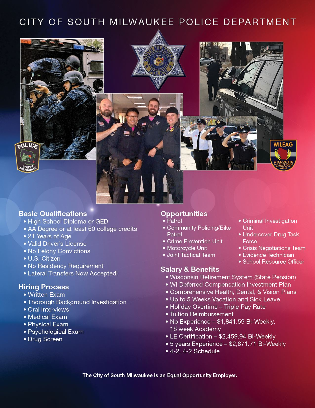 Police Department Qualifications, Hiring Process, Opportunities, and Benefits